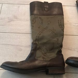 "Ralph Lauren ""stara"" riding boots size 10 embroid"